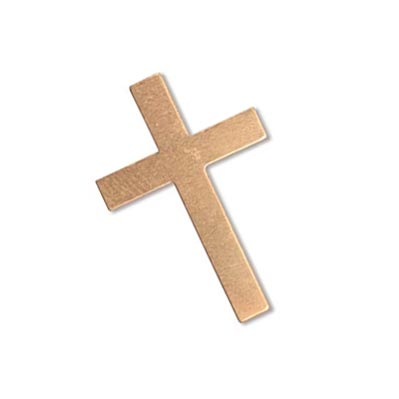 Copper Cross 30x20mm 24g Stamping Blank x1