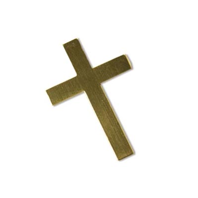 Gold Filled Cross 30x20mm 24g Stamping Blank x1