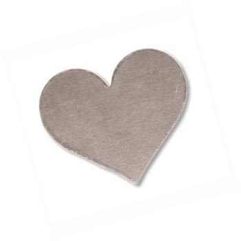 Sterling Silver Heart 19.6x16.9mm 24g Stamping Blank x1