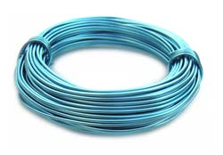 Aluminium Wire 18 gauge (1mm) x39ft (12m) Peacock