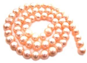 Freshwater PEARL Beads Round 6x5mm Peach