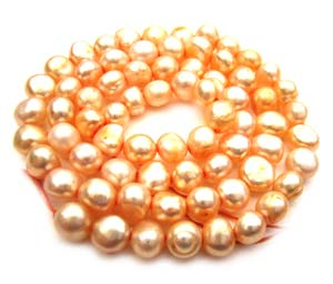 Freshwater PEARL Beads Potato Cabochon 6mm Pale Antique Gold