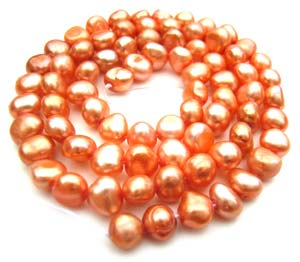 Freshwater PEARL Beads Potato Cabochon 6mm Fire Opal