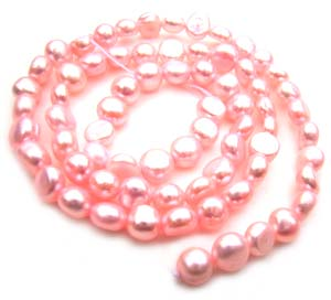 Freshwater PEARL Beads Potato Cabochon 6mm Pink