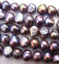 Freshwater PEARL Beads Potato Nugget 7mm Purple Opal
