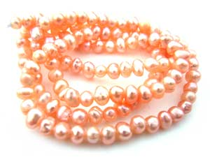 Freshwater PEARL Beads Seed 3mm Peach