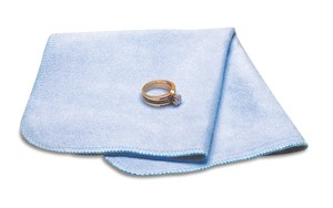 "Gembright Lintless Polishing Cloth 10x9"" Blue x1"