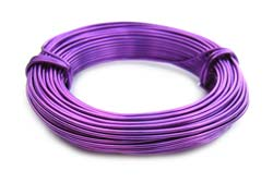 Aluminium Wire 18 gauge x39ft / 12m - Purple