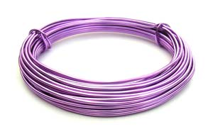 Aluminium Wire 12 gauge (2mm) x39ft (12m) Purple