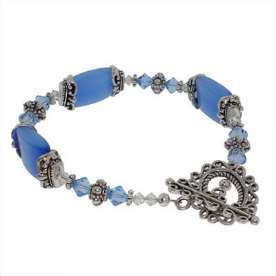 Jewellery Project Kit - Bracelet - Fancy Fibre Optic - Light Sapphire