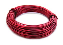 Aluminium Wire 18 gauge (1mm) x39ft (12m) Red