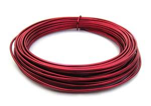 Aluminium Wire 12 gauge (2mm) x39ft (12m) Red