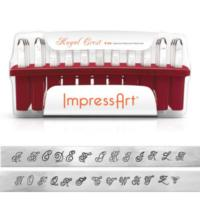 ImpressArt Royal Crest 6mm Alphabet Upper Case Letter Metal Stamping Set