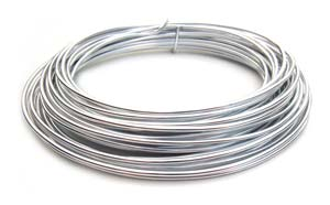 Aluminium Wire 12 gauge x39ft / 12m - Silver