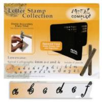 Spiral Calligraphy Alphabet Lower Case Letter 4mm Stamping Set - Metal Complex