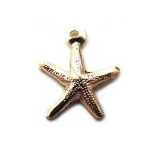 Gold Filled 8mm Starfish Charm x1