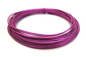 Aluminium Wire 12 gauge x39ft / 12m - Strong Pink
