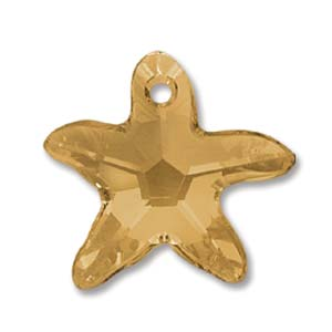 Swarovski Crystal Pendants Starfish 16mm Topaz x1