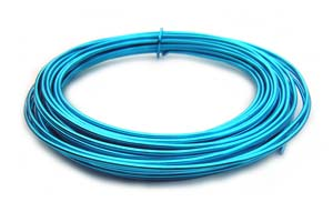 Aluminium Wire 12 gauge (2mm) x39ft (12m) Turquoise