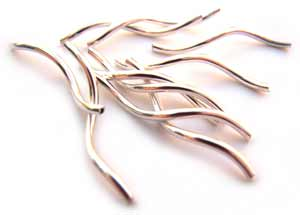Sterling Silver Spiral Twirl Tube Beads 17mm x5
