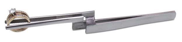 Eurotool Tweezers - Stand Up Cross Lock Tweezer - for Soldering - Jewellers Tool