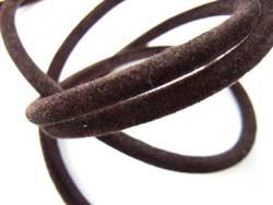 Black Velveteen Velour Necklace Cord 3mm Round diameter x 100cm length