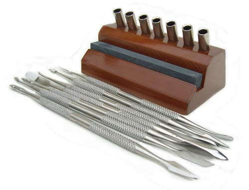 Wax Carver Set of 7 ~ Jewellers Tool - for pmc + clay sculpting