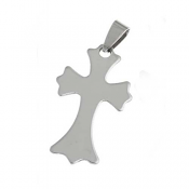 Stainless Steel Cross 44x21.3mm 18g Stamping Blank Pendant x1