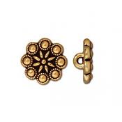 TierraCast Pewter Gold Plated 11.5mm Czech Rosette Button