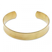 "Brass Cuff Bracelet Blank Concave .5"" 12.6mm High"