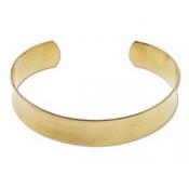 Brass Cuff Bracelet Blank Concave 0.5 inch 12.6mm High