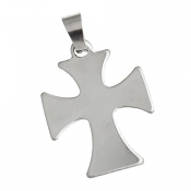 Stainless Steel Cross 40x24mm 18g Stamping Blank Pendant x1