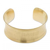 "Brass Cuff Bracelet Blank Concave 1"" 28mm High"