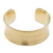 Brass Cuff Bracelet Blank Concave 1 inch 28mm High