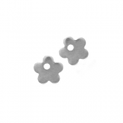 Stainless Steel Flower 6mm 19g Stamping Blank Charms x2