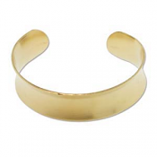 "Brass Cuff Bracelet Blank Concave .75"" 19mm High"