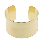 "Brass Cuff Bracelet Blank Concave 1.5"" 37mm High"