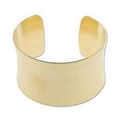 Brass Cuff Bracelet Blank Concave 1.5 inch 37mm High