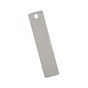 Stainless Steel Rectangle Tag 40x9mm 19g Stamping Blank x1