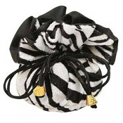 Zebra Print Furry Cinch Pouch x1