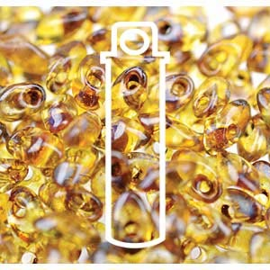 Miyuki Magatama Bead 4x7mm Long Picasso Saffron Transparent