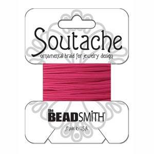 Soutache Braid Cord, Beadsmith 3mm - Deep Pink
