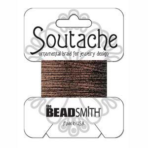 Soutache Braid Cord, Beadsmith 3mm - Textured Metallic Bronze