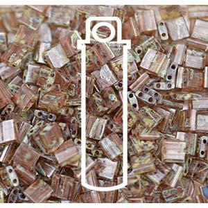 Miyuki Tila Bead 5mm Picasso Light Smoky Topaz Transparent