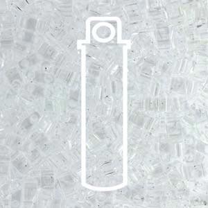 Miyuki Half Tila Bead 1/2 Cut 5mm Transparent Pale Topaz