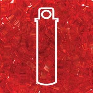 Miyuki Half Tila Bead 1/2 Cut 5mm Transparent Red