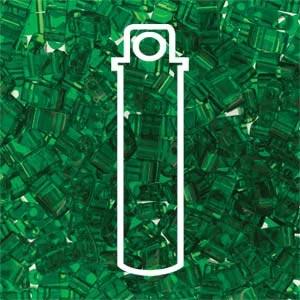 Miyuki Half Tila Bead 1/2 Cut 5mm Transparent Green