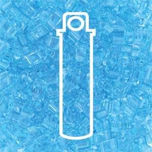 Miyuki Half Tila Bead 1/2 Cut 5mm Transparent Light Blue