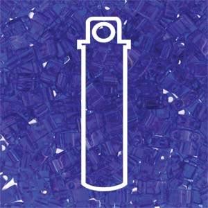 Miyuki Half Tila Bead 1/2 Cut 5mm Transparent Cobalt Blue