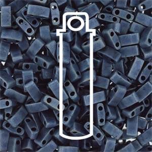 Miyuki Half Tila Bead 1/2 Cut 5mm Opaque Matte Blue Grey